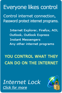 Get Internet Lock to help you to control your internet connections